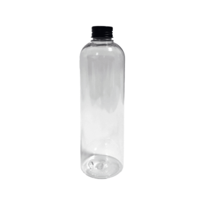 Notty Transparent PET Bottle with Black Aluminum Cap 500ml