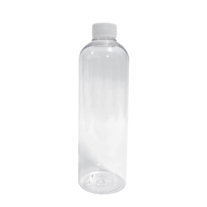 Notty Transparent PET Bottle with White Plastic Cap 500ml